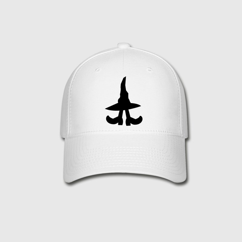 witch hiding under a witches hat Caps - Baseball Cap