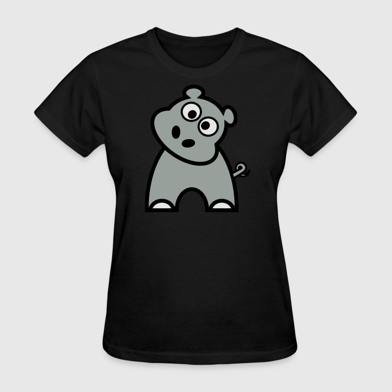 Cute Hippo - Women's T-Shirt