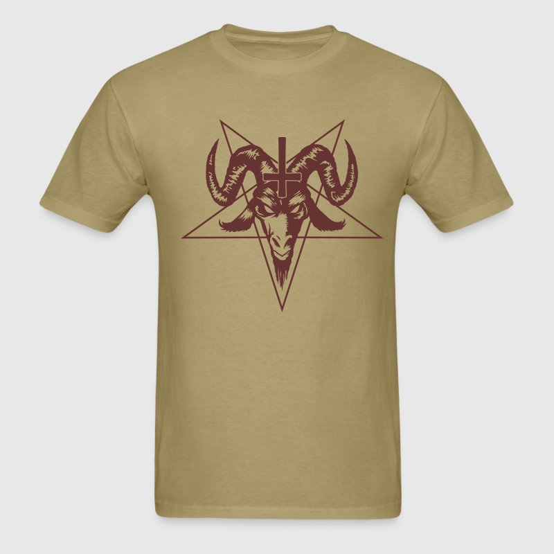 Satanic Goat Head with Pentagram T-Shirts - Men's T-Shirt