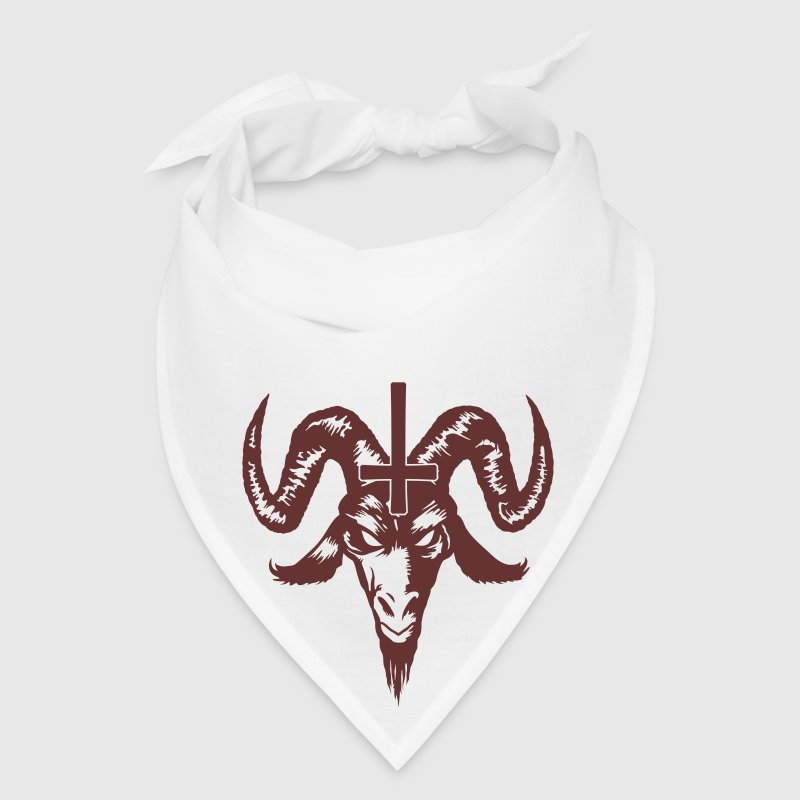 Satanic Goat Head with Cross Caps - Bandana
