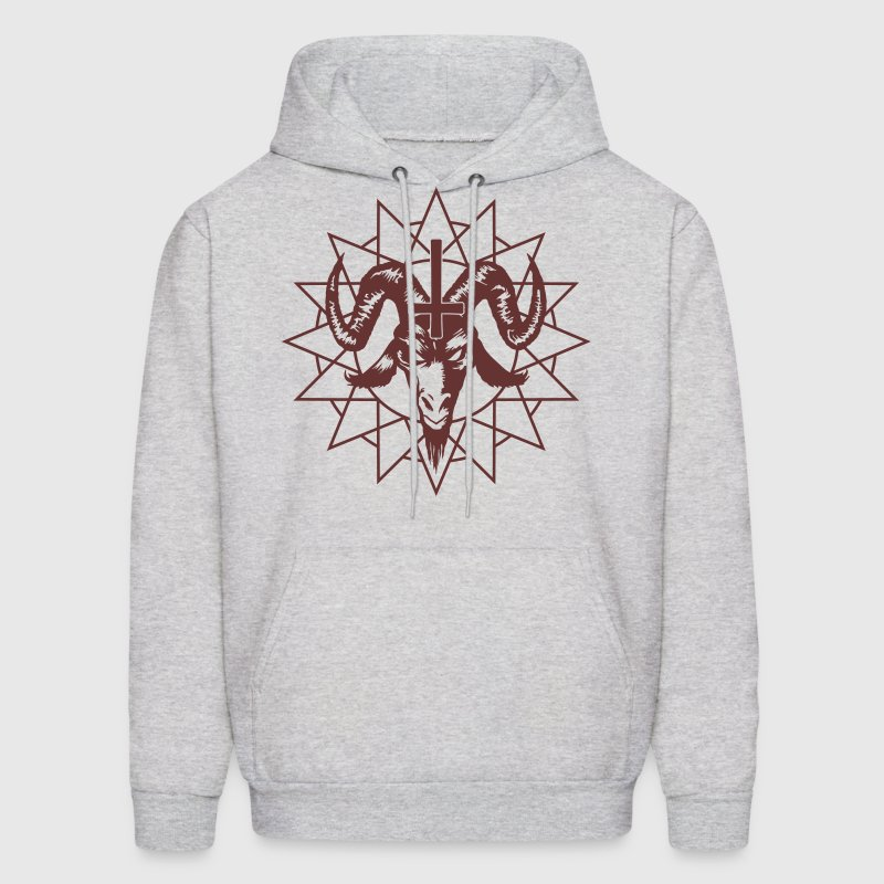 Satanic Goat Head with Chaos Star Hoodies - Men's Hoodie