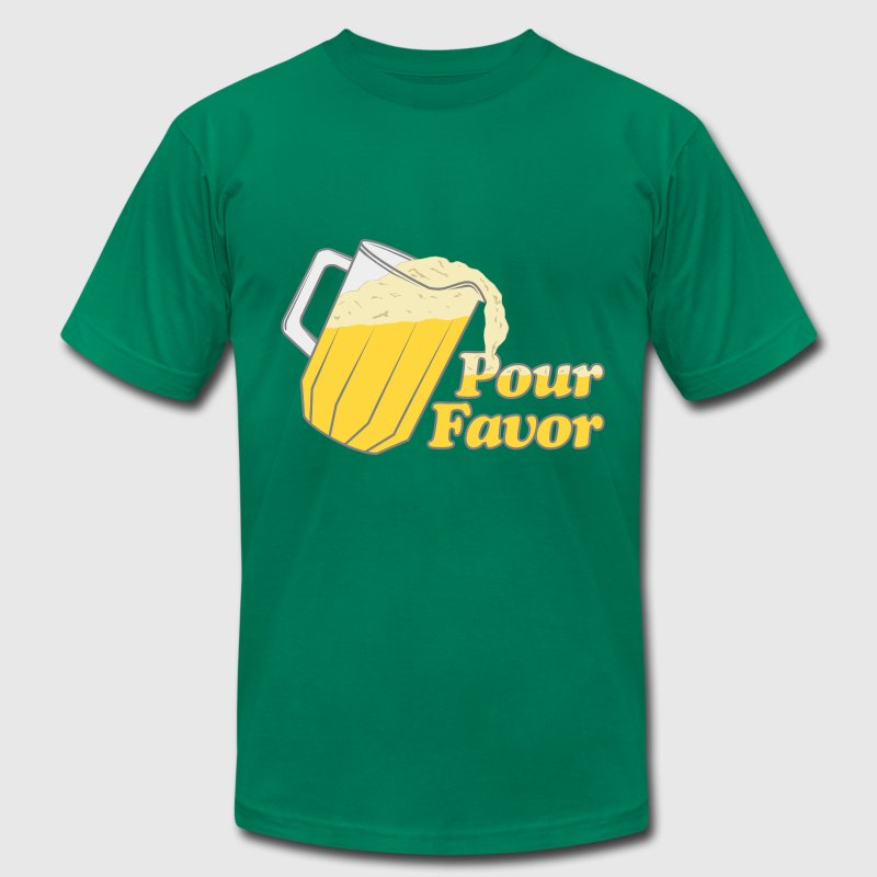 Pour Favor Beer Irish T-Shirts - Men's T-Shirt by American Apparel