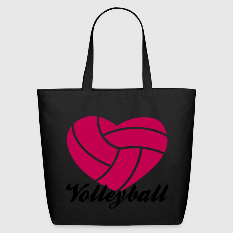 volleyball heart volleyball Bags  - Eco-Friendly Cotton Tote