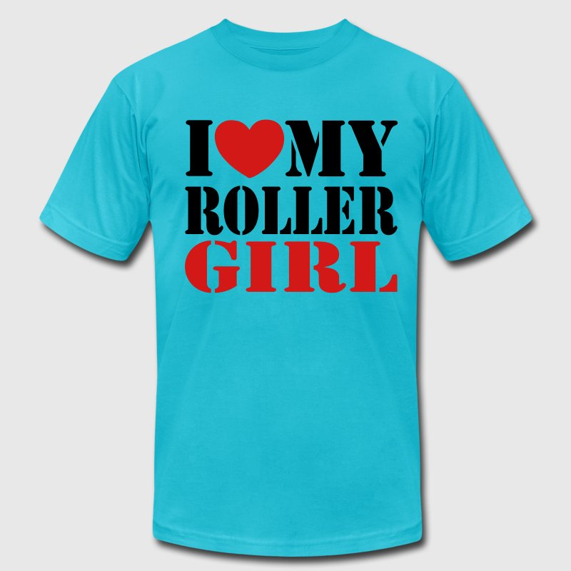 derby i love my derby girl T-Shirts - Men's T-Shirt by American Apparel