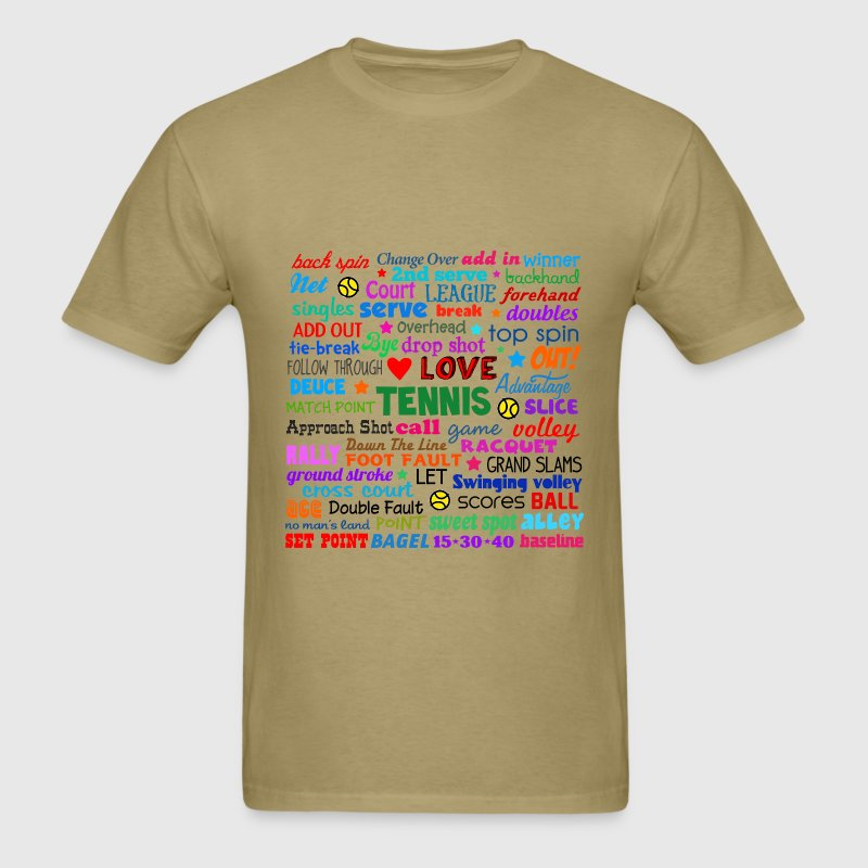 Tennis Terms Shirt T-Shirts - Men's T-Shirt