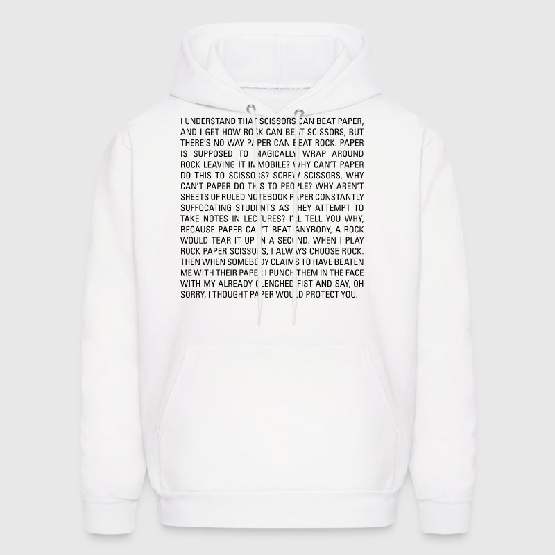 rock paper scissors sweatshirt Rock, paper, scissors, lizard, spock is the big bang theory inspired version of the classic game decider, printed on this cosy hoodie.