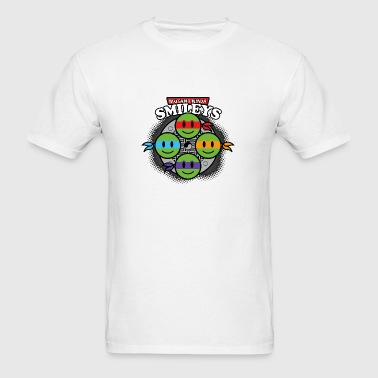 Mutant Ninja Smileys V1 (dd print) Buttons - Men's T-Shirt