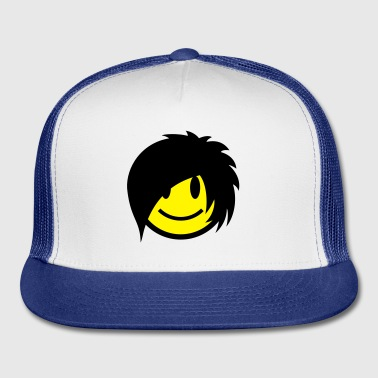 Smiley Emo (Boy) Icon 2c Buttons - Trucker Cap