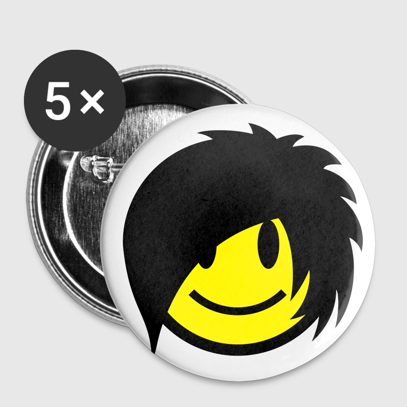 Smiley Emo (Boy) Icon 2c Buttons - Small Buttons