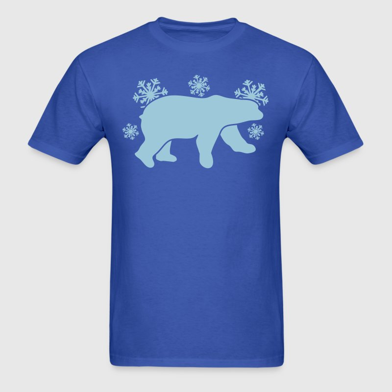 polar bear winter with snowflakes T-Shirts - Men's T-Shirt