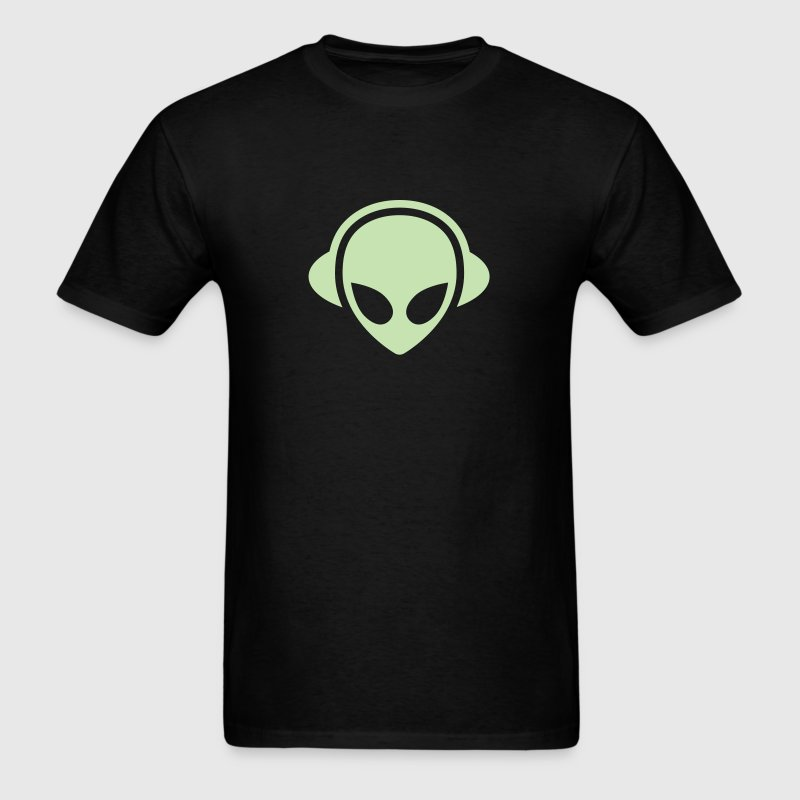 Alien headphones Glow in the dark T-Shirts - Men's T-Shirt