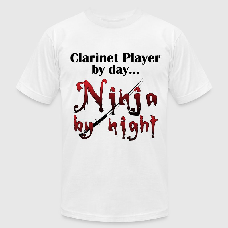 Clarinet Ninja - Men's T-Shirt by American Apparel