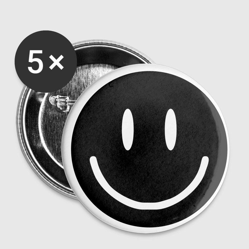 Acid Unicorn Black Smiley Face Buttons - Small Buttons