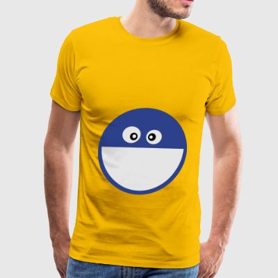 Cute Big smiley face Eco-Friendly Cotton Tote - Men's Premium T-Shirt