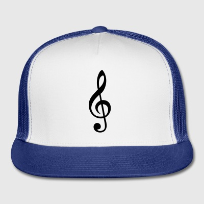 treble clef Buttons - Trucker Cap