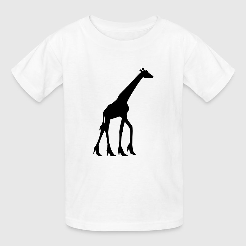 White Giraffe in High heels Kids & Baby - Kids' T-Shirt