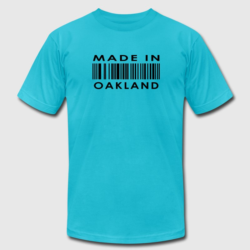 Made in Oakland  T-Shirts - Men's T-Shirt by American Apparel