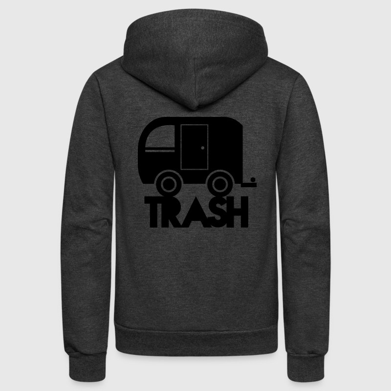 TRAILER TRASH towing cargo  Zip Hoodies/Jackets - Unisex Fleece Zip Hoodie