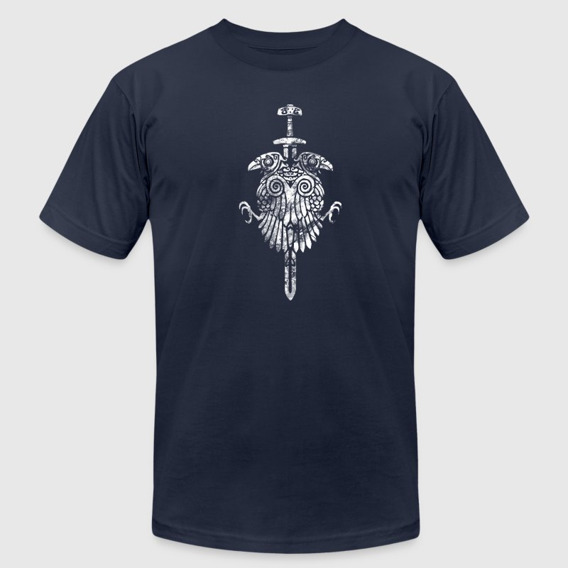 Viking crows - Men's T-Shirt by American Apparel