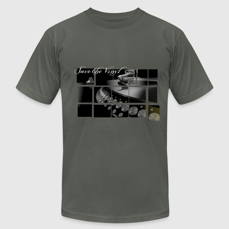 Save the vinyl, save the sound board DJ Music motive T-Shirts - Men's T-Shirt by American Apparel