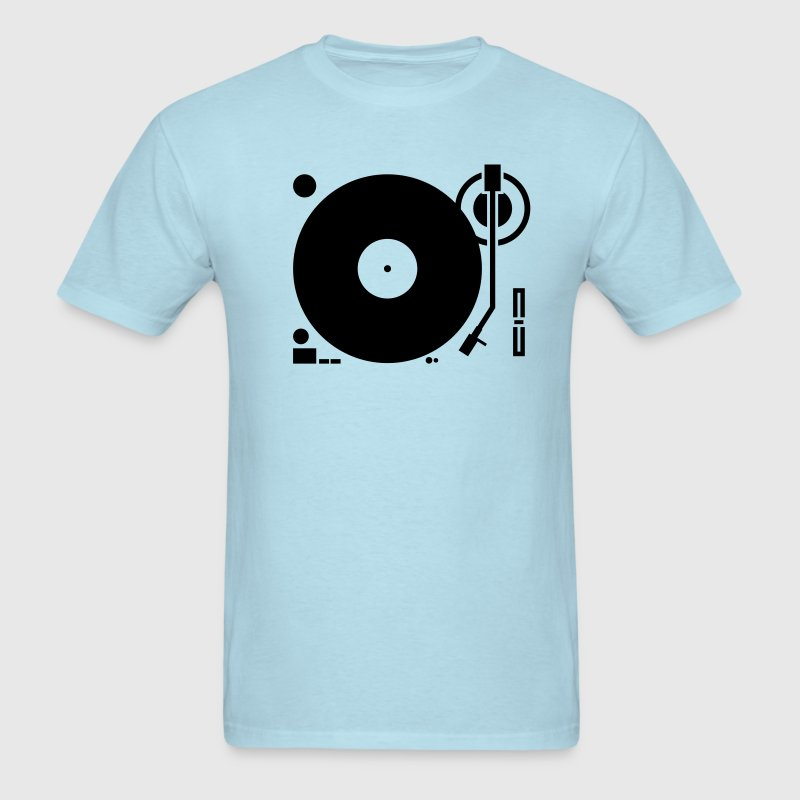 headphones record disc platter disk dj play vinyl spin T-Shirts - Men's T-Shirt