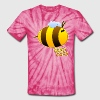 Psychedelic Buzz Buzz the Bumble Bee - Unisex Tie Dye T-Shirt