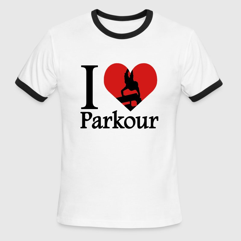 I love Parkour / I heart Parkour Traceur T-Shirts - Men's Ringer T-Shirt