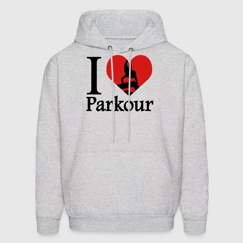 I love Parkour / I heart Parkour Traceur Hoodies - Men's Hoodie