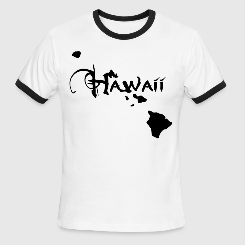 Hawaii, the surfers paradise island Ukulelisten. T-Shirts - Men's Ringer T-Shirt