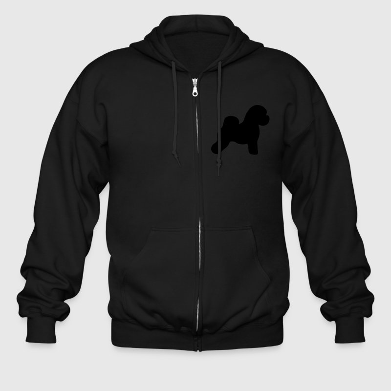 Bichon Frise Dog Zip Hoodies/Jackets - Men's Zip Hoodie