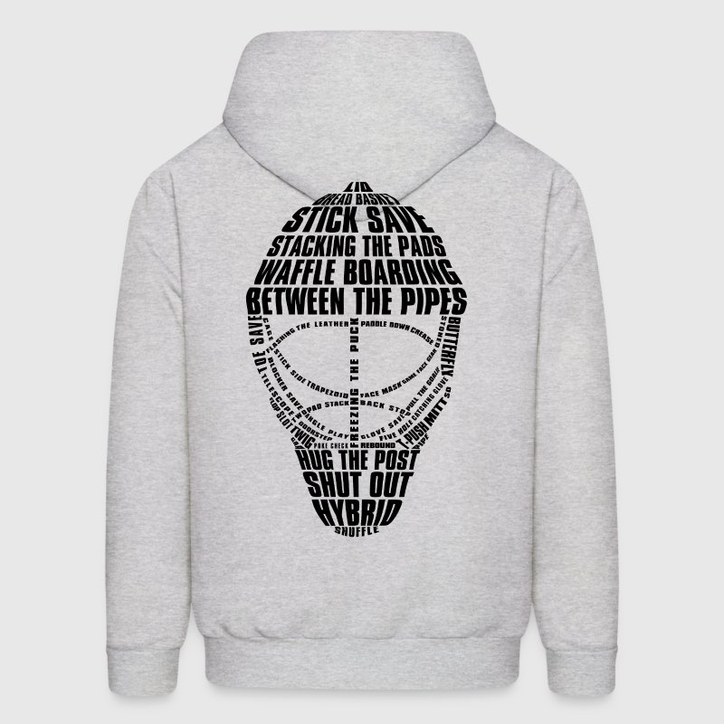 Hockey Goalie Mask (black design) Hoodies - Men's Hoodie