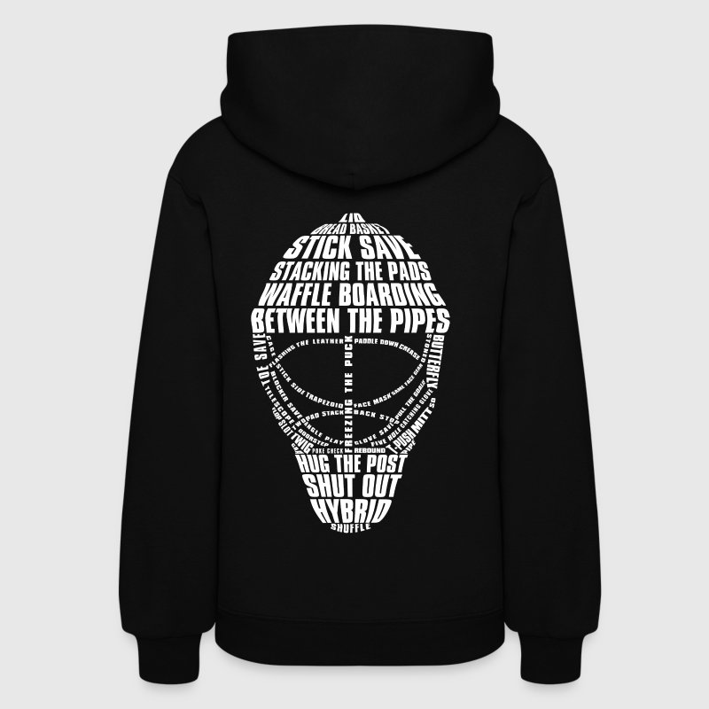 Hockey Goalie Mask (white print) Hoodies - Women's Hoodie