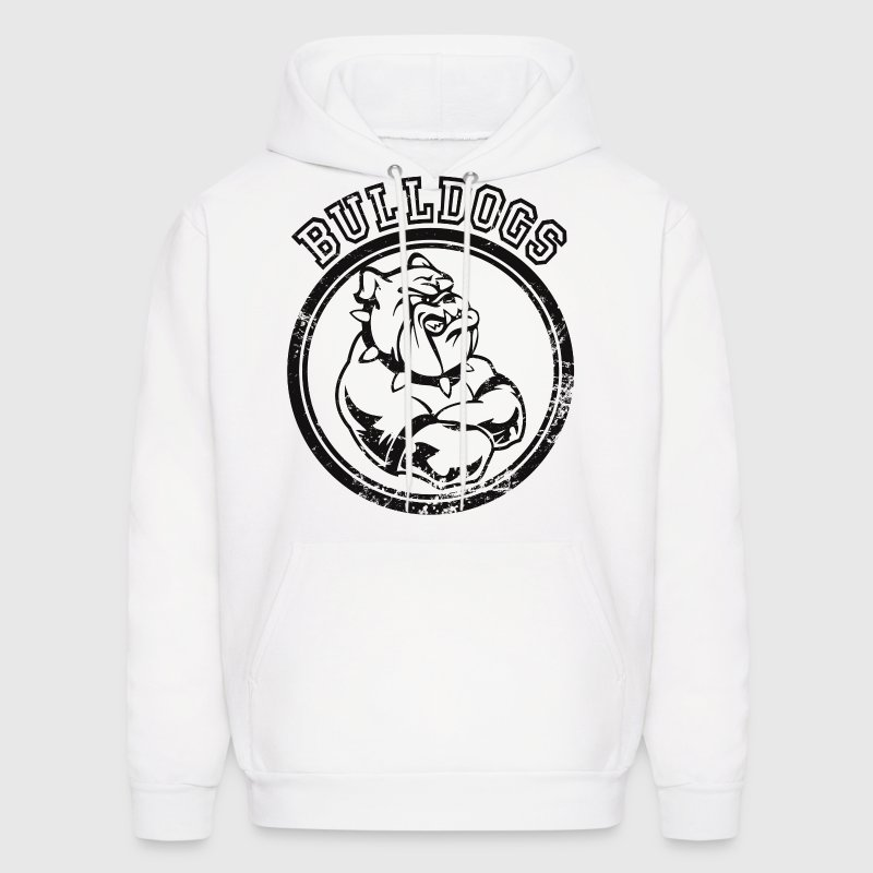 Custom Bulldog Sports Team Graphic Hoodies - Men's Hoodie