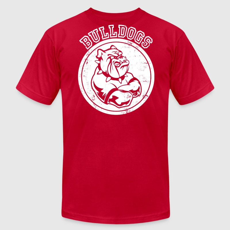 Custom bulldog sports team graphic t shirt spreadshirt for How to make money selling custom t shirts
