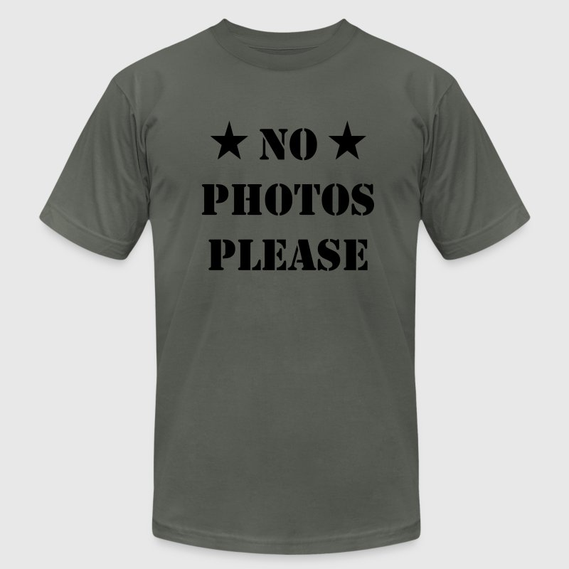 No Photos pLease / No Pictures please T-Shirts - Men's T-Shirt by American Apparel