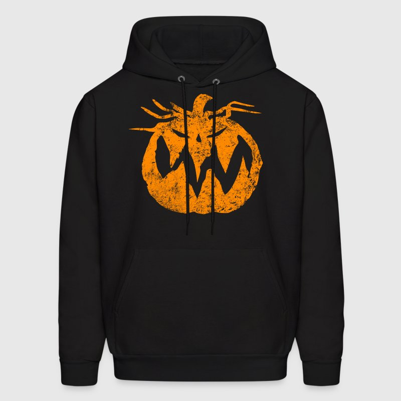 Orange Grunge Pumpkin Hoodies - Men's Hoodie