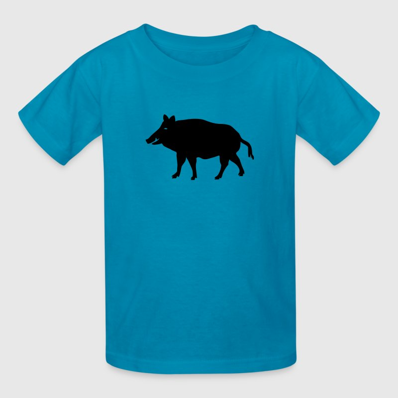 wild boar hunter hunting forest animals nature pig rookie shoat Kids' Shirts - Kids' T-Shirt