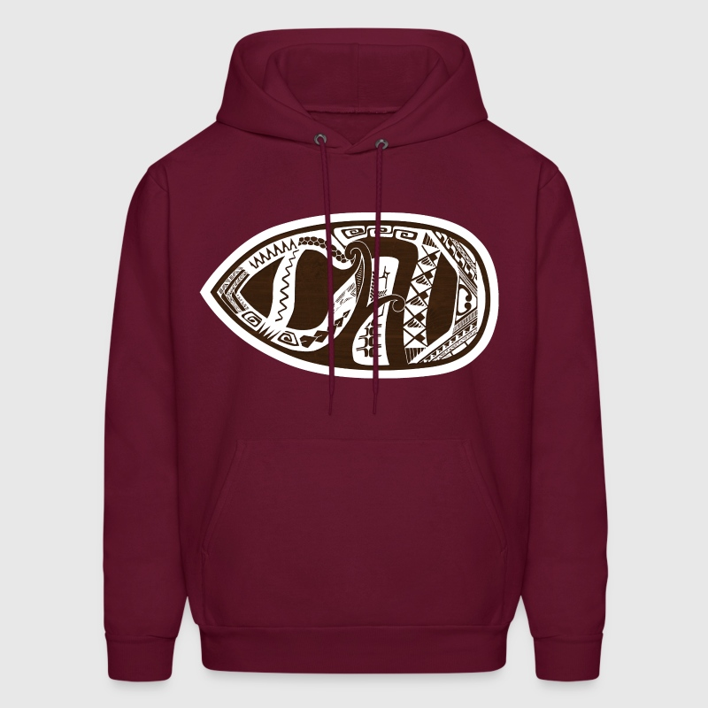 Weird tribal face?  No, it's DAD! (sideways) - Men's Hoodie