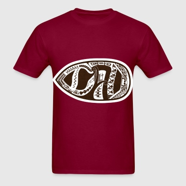 Weird tribal face?  No, it's DAD! (sideways) - Men's T-Shirt