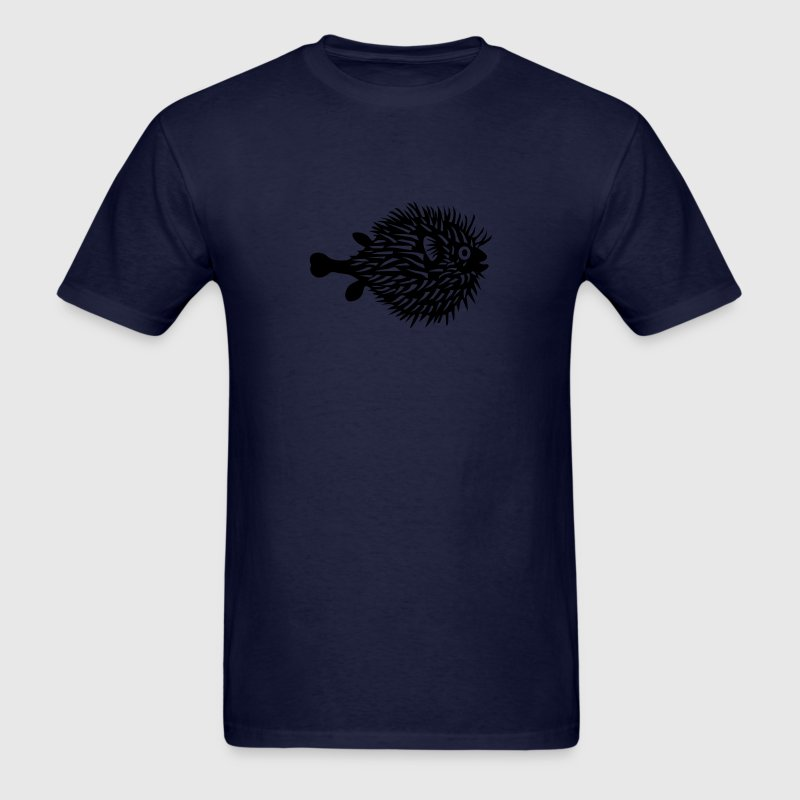 puffer fish blowfish pregnant mom beer belly fishing T-Shirts - Men's T-Shirt