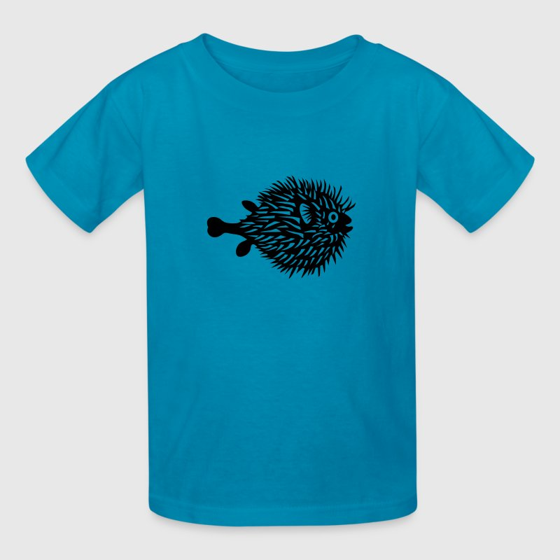 puffer fish blowfish pregnant mom beer belly fishing Kids' Shirts - Kids' T-Shirt