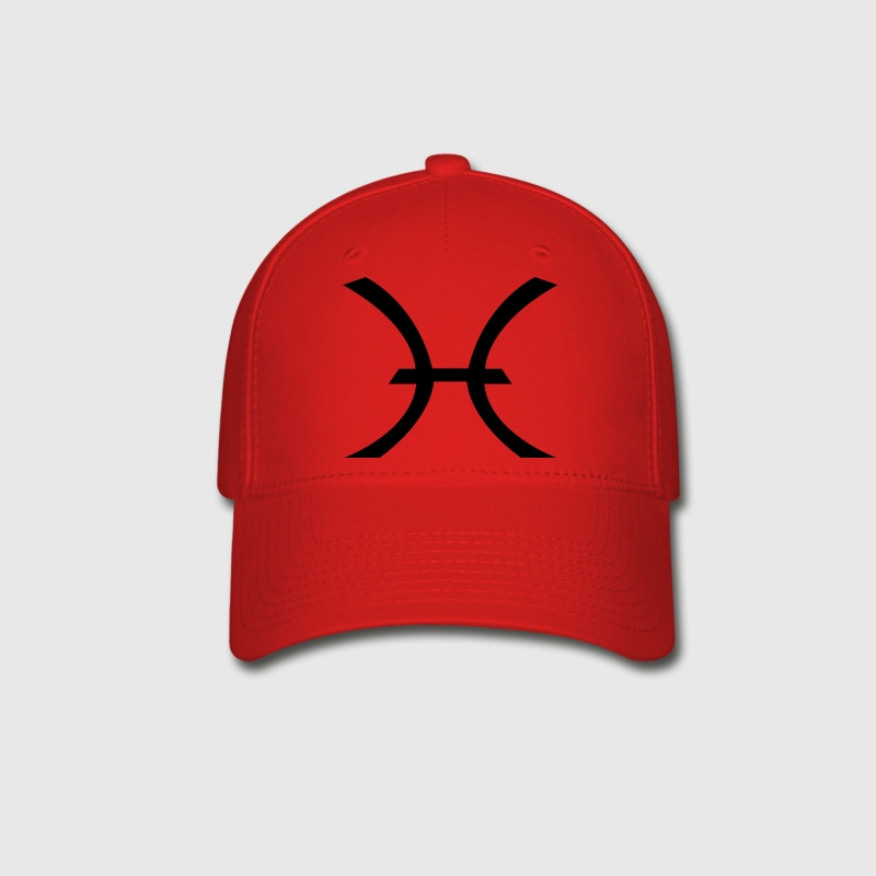 Pisces Symbol ( Vector Graphic ) - Baseball Cap