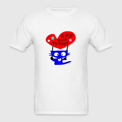 K POP took my heart txt cat vector - Men's T-Shirt