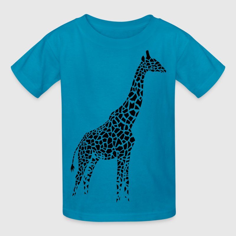 giraffe afrika serengeti camelopard safari zoo animal wildlife desert Kids' Shirts - Kids' T-Shirt