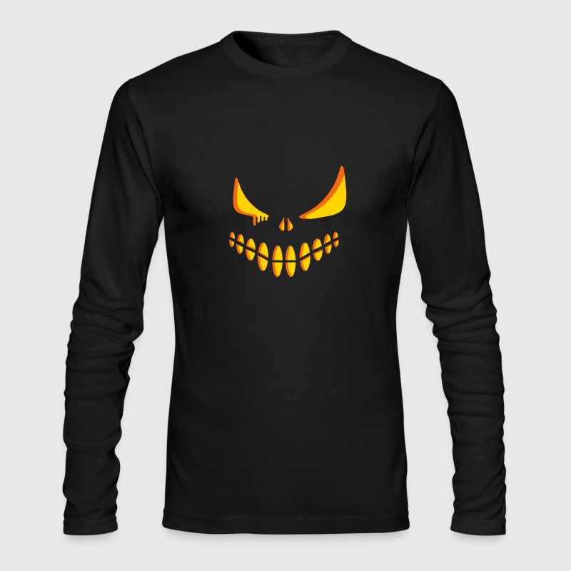 An illuminated pumpkin face Long Sleeve Shirts - Men's Long Sleeve T-Shirt by Next Level