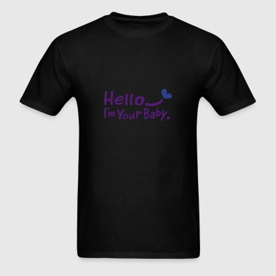 Hello.I'm your baby txt heart vector art Dog Bandana - Men's T-Shirt