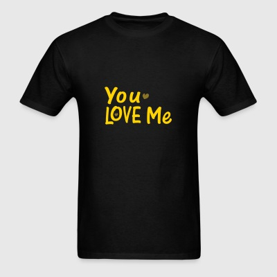 you love me txt vector art Dog Bandana - Men's T-Shirt