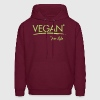 VEGAN for life - vector Hoodies - Men's Hoodie