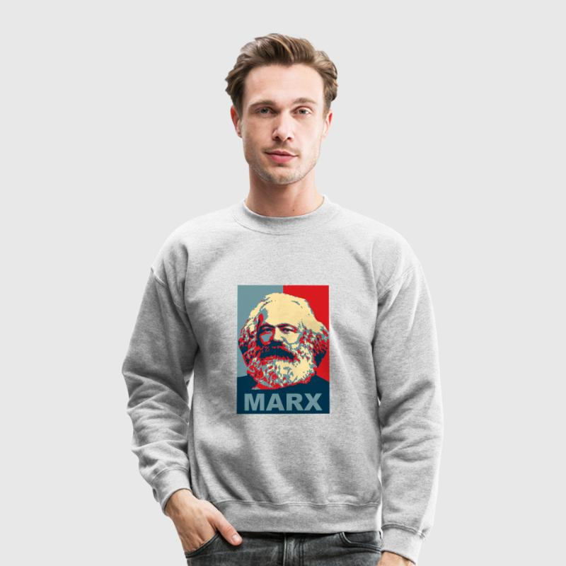 Karl Marx Obama Style Long Sleeve Shirts - Crewneck Sweatshirt