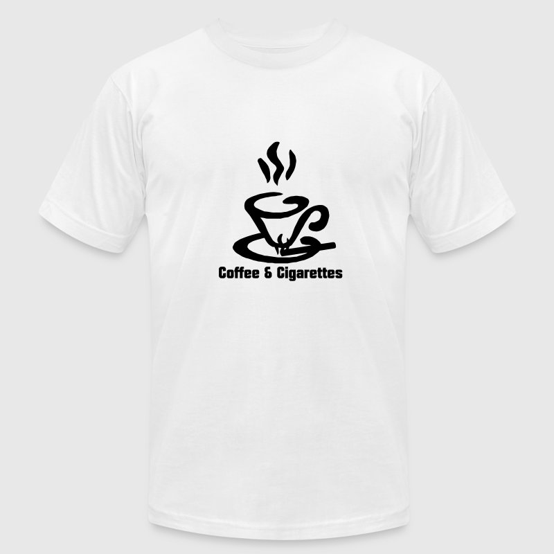 Coffee and Cigarettes  T-Shirts - Men's T-Shirt by American Apparel